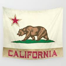 vintage california flag wall tapestry