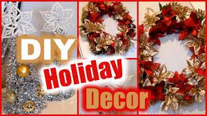 DIY Holiday Decorations  Dollar Tree Christmas Decor  Wreath & Mini  Trees! - YouTube