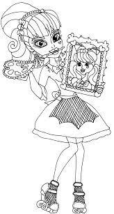 Draculaura Coloring Pages Face Free Here