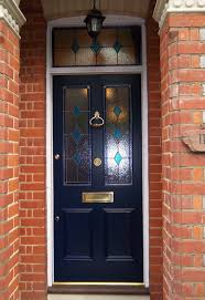 the wimbledon victorian 4 panel door with real stained glass 19