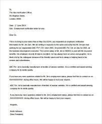 Employment Verification Letter For Visa Templatezet