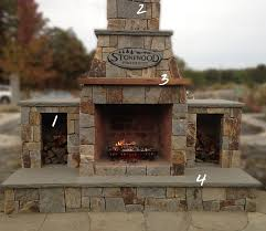 prefab outdoor fireplace stones