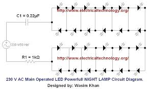 12v led flasher circuit diagram tropicalspa co 12 volt led flasher circuit diagram v ac or main operated powerful night lamp org wiring