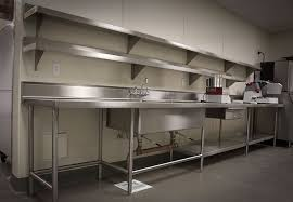 Lovely Beautiful Stainless Steel Wall Panels For Commercial Kitchen Shelves  Streivor Air Systems