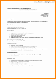 6 Construction Superintendent Resume Letter Signature