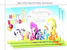 Online Printable Birthday Party Invitations Party Invitations Free My Little Pony Birthday Printable