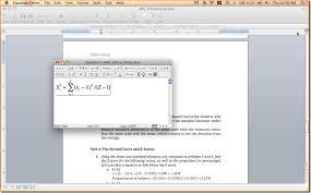equation editor view