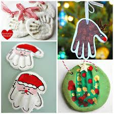 Homemade Christmas 2  Handprint Ornaments  NasagreenSalt Dough Christmas Gifts
