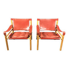 Scandinavian modern furniture Danish Modern Scandinavian Modern Arne Norell Red Leather Sirocco Chairs Pair Chairish Chairish Scandinavian Modern Arne Norell Red Leather Sirocco Chairs Pair