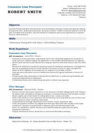 Loan Processor Resume Samples Qwikresume