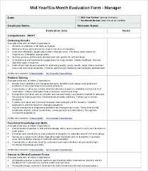 performance feedback form employee new performance evaluation form feedback format samples