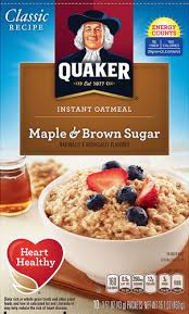 quaker instant oatmeal maple brown sugar 10 packets