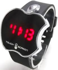 buy apple shaped touch screen red led digital wrist watch for men buy apple shaped touch screen red led digital wrist watch for men online