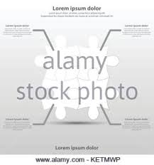 four simple d white paper puzzle topic for website presentation four simple 3d white paper puzzle topic for website presentation cover poster vector design infographic illustration
