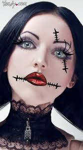 2016 frightful sch rag doll face makeup for party ideas 2016
