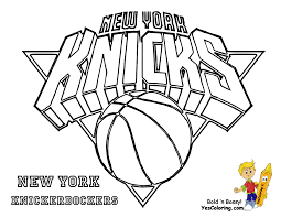 Small Picture knicks New York Basketball Teams Coloring pages Free Printable