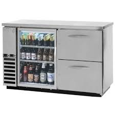 beverage air dzd58g 1 s 2 58 dual zone glass door stainless steel back bar refrigerator