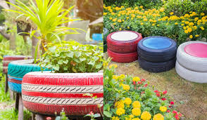 35 ways to upcycle old tires in the garden
