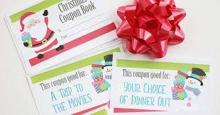 Printable Christmas Coupons For Fun Gift Experiences Sunny