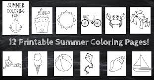 Parks, picnics and more summer coloring pages in this section. Free Printable Summer Coloring Pages Unique Baby Shop