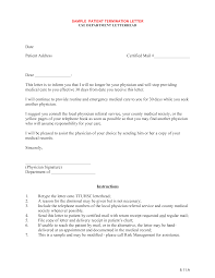 Medical Termination Letter Free Sample Patient Termination Letter Templates At