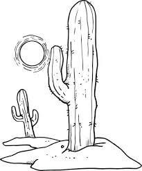 Cactus Kleurplaat Vector Met Cactus Gereedschap Shshiinfo