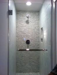 marble gl linear mosaic accent shower wall