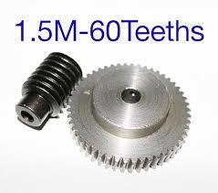 1.5M 60T <b>reduction ratio</b>:1:60 45Steel metal worm <b>gear</b> reducer ...