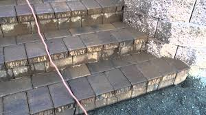 Cinder Block Stairs Beautiful Stairs And Patio Using Paver Block Youtube