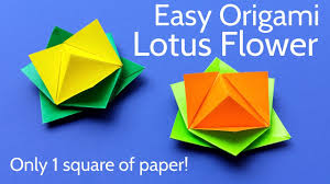 How To Make A Lotus Flower Out Of Paper Origami Lotus Flower