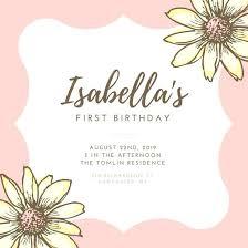 First Birthday Ecard Invitation Free Memokids Co