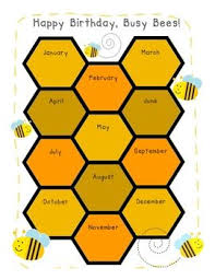 Bee Themed Birthday Chart Busy Bees Birthday Chart Bee Ideas Birthday Chart