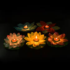 Paper Flower Lamp Us 0 56 17 Off 1pcs Floating Lotus Lanterns Lotus Water Lamp Wedding Party Decorations Paper Flower Light Drifting Blessing In Party Diy Decorations