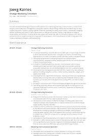 Consultant Cv Strategic Marketing Consultant Resume Samples And