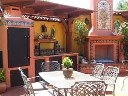Gorgeous Mexican Patio Furniture Decorating With Mexican Talavera Tile  Fireplaces Backyards And