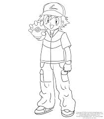 Small Picture Pokemon Ash Coloring PagesKids Coloring Pages