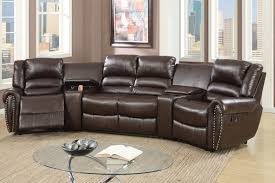 leather reclining sectional. Unique Leather Malta Brown Leather Reclining Sectional Intended I