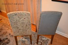 how to diy reupholstering parsons dining chairs without sewing a stitch thediybungalow com