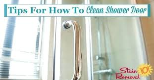 best way to clean shower doors tips hints for how to clean shower door clean shower