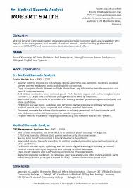 Chart Reviewer Job Description Medical Records Analyst Resume Samples Qwikresume