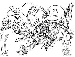 Coloring Pages Jack And Sally Coloring Pages True Love Subjects