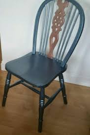 Vintage high back chair Adrian Pearsall Metallic Paint Over Vintage Wheel Back Dining Chair United Creative High Back Chair Antique Collectors Period Furniture Buy And