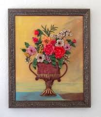 polymer clay wall art vintage flower vase on clay wall art pinterest with 14 best wall art images on pinterest clay wall art polymer clay