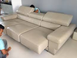 fast and efficient leather sofa cleaning by alphakleen singapore