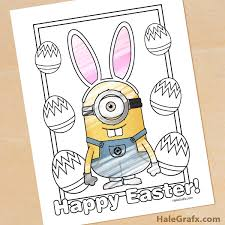 See more ideas about minion coloring pages, coloring pages, minions coloring pages. Free Printable Easter Minion Coloring Page