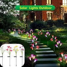 garden stake lights solar flower lights