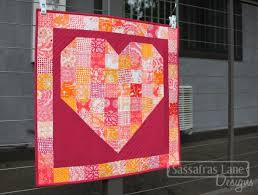 Free 'Pieces of My Heart Quilt' Pattern – Sassafras Lane Designs & I discovered a quilt store near by me, Eddie's Quilting Bee, and found the  perfect thread to quilt this heart: Aurifil #2530. I echoed the heart shape  with ... Adamdwight.com