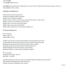 Driver Job Description For Resume Resume Bus Driver Resume 68