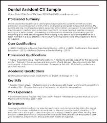 Dental Assistant Resume Examples No Experience Dental Assistant