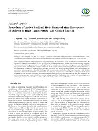 Emergency Shutdown System Design Philosophy Pdf Procedure Of Active Residual Heat Removal After